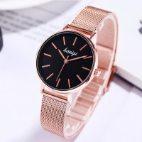 Girls Casual Classic Minimalist Watch - Black Gold