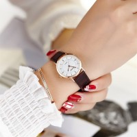 Women Casual Band Quartz Watch - Brown Gold