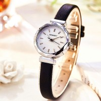 Girls Casual Band Quartz Watch - Black Silver
