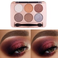 Solid Sex Color Pearly Matte Eyeshadow Makeup Palette 06 - Coffee