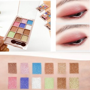 12 Colors Pearly Matte Eyeshadow Makeup Palette 01 - Golden