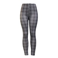 Check Printed Narrow Bottom Casual Wear Fitted Trousers - Dark Gray