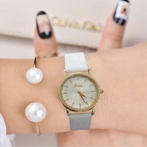 Women Beautiful Luxury Fashion Belt Watch - White Gold