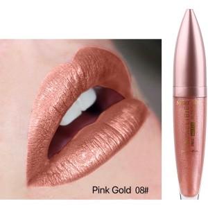 Waterproof Long Lasting Matte To Glitter Liquid Lipstick 08 - Light Red