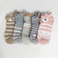 Multi Pattern Five Pairs Cotton Casual Wear Socks Set