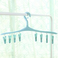 High Quality New Design 6 Clips Clothes Drying Hanger - Sky Blue