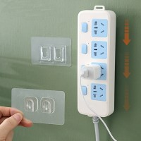 Easy Device Wall Hanging Type Receives Wire Holder - Transparent