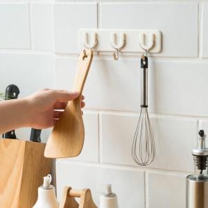 Kitchen Gadgets Storage Adhesive Hook - White