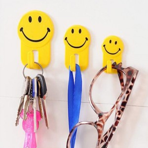 3 Pcs Multi Purpose Bathroom Kitchen Strong Sundry Hook - Yellow