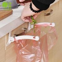 Foldable Creative Hanging Trash Garbage Holder - White