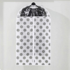 Polka Dots Large Size Clothes Suits Coats Dust Cover - White Gray