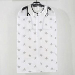 Stars Design Large Size Clothes Suits Coats Dust Cover - White