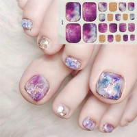 Trendy Gradience Shiny Adhesive Nail Stickers