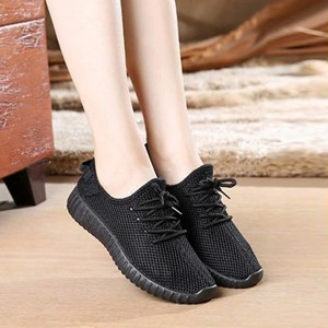 Mesh Breathable Casual Wear Sports Shoes - Black