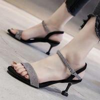 Fairy Style Closure Buckle Party Wear Heel For Women - Black