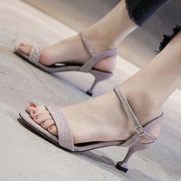 Fairy Style Closure Buckle Party Wear Heel For Women - Pink