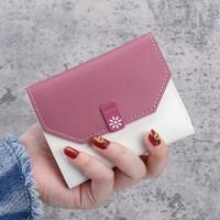 Retro Korean Zipper Closure Mini Card Wallet Holder