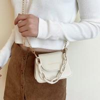 Leisure Fashion Solid Color Female Handbag - White