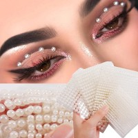 Resin Pearl For Face Eyeshadow Nail And Body Makeup Tool - White