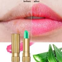 99% Aloe Vera Moisturizing Natural Temperature Change Color lasting Jelly Lip Balm - Pink