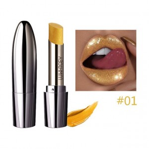 Waterproof Long Lasting Shimmer Glitter Lipstick 01 - Golden