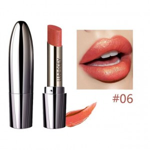Waterproof Long Lasting Shimmer Glitter Lipstick 06 - Cherry Red