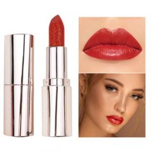 Waterproof Long Lasting Moisturizing Shiny Glitter Lipstick 03 - Light Red