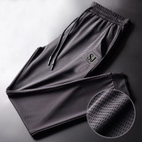 Alphabetic Mesh Breathable Gym Wear Sports Cool Men Trouser - Gray