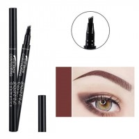 Four Headed Extremely Long Lasting Waterproof Eyebrow Pencil 05 - Red Brown