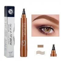 Four Headed Fork Tip Long Lasting Waterproof Eyebrow Pencil 01 - Light Brown