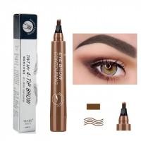 Four Headed Fork Tip Long Lasting Waterproof Eyebrow Pencil 02 - Dark Brown