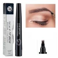 Four Headed Fork Tip Long Lasting Waterproof Eyebrow Pencil 05 - Black