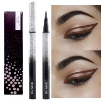 Waterproof Quick Dry Natural Liquid Eyeliner Pencil - Brown