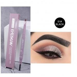 Double Headed Waterproof Eyebrow Pencil 01 - Black