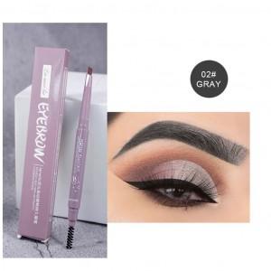 Double Headed Waterproof Eyebrow Pencil 02 - Gray