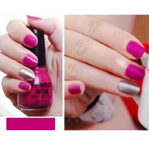 Candy Colors Waterproof Full Cover Nail Polish 15 - Rose Pink