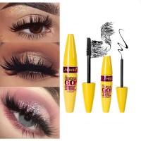 2 In 1 Long Lasting Waterproof Anti Blooming Eyelash Mascara - Black