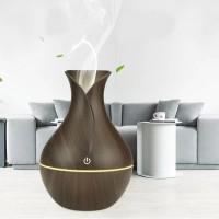 Colorful Luminous Wood Grain Smart Air Humidifier Aroma Diffuser - Coffee
