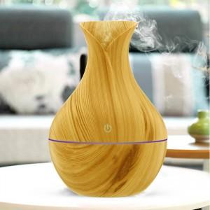 Colorful Luminous Wood Grain Smart Air Humidifier Aroma Diffuser - Beige