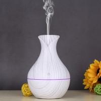 Colorful Luminous Wood Grain Smart Air Humidifier Aroma Diffuser - White