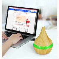 Wood Grain Mist Humidifier Ultrasonic Aroma Diffuser - Khaki