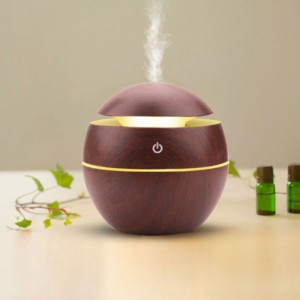 Essential Oil Diffuser Wood Grain Humidifier For Home Office - Chocolate