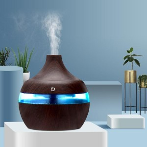 Color Changing Usb Power Humidifier Luminous Aroma Diffuser - Chocolate