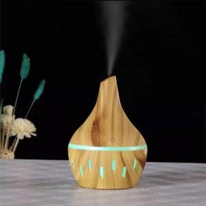 Luminous Wood Grain Air Humidifier Aroma Diffuser - Khaki