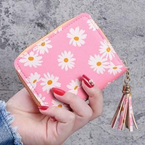 New Fashion Zipper Closure Mini Card Wallet Holder