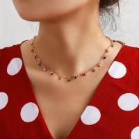 Boho Stylish Colorful Stone Pendant Women Necklace