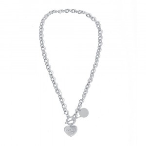 Stylish Pendant Choker Thick Chain Clavicle Necklace