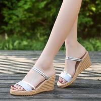 Thick Bottom Strap Slip Over Women Fashion Sandals - Silver