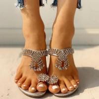 Silver Decorative Party Wear Sandals