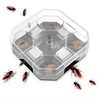 Reusable Automatic Cockroach Bug Catcher Box Trap - Transparent